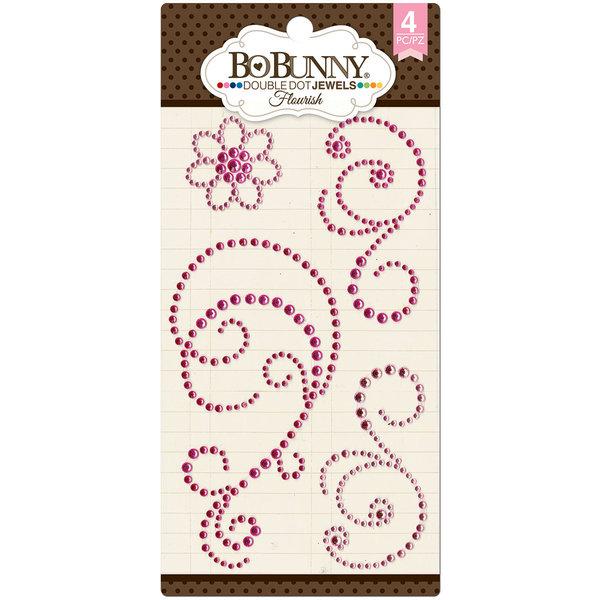 BoBunny Double Dot Flourish Jewels (think pink)