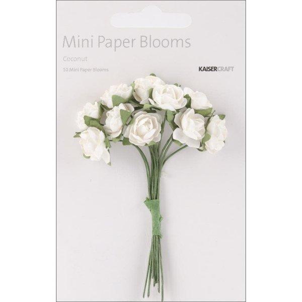 Kaisercraft Mini Paper Blooms Flowers (coconut)