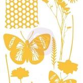 Prima Marketing Christine Adolph Adhesive Rub-ons (wildflowers & butterflies)