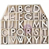 Prima Marketing Laser-Cut Wood Alphas In A Shaped Box-House (letters & shapes)