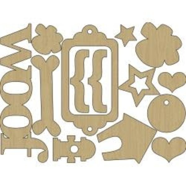 Hound Dog Laser Cut Wood Shapes (dog)