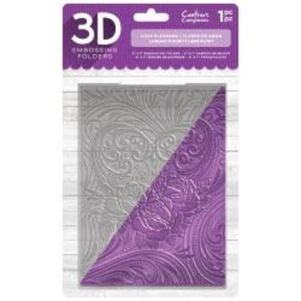 Crafter's Companion 3D Embossing Folder Love Blossoms