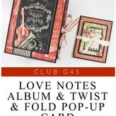 Graphic 45 Club G45 April 2019 Kit (love notes)