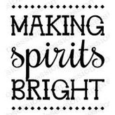 Impression Obsession Cling Stamp (making spirits bright)