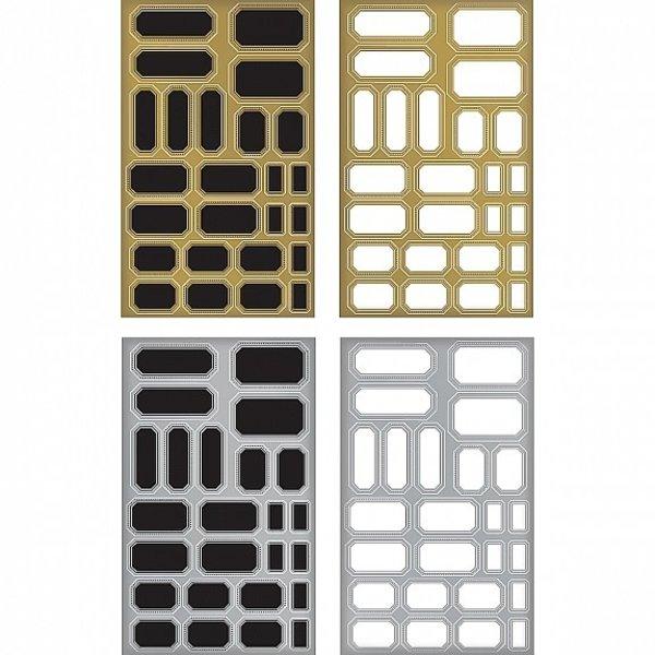 Advantus (Tim Holtz) Tim Holtz Idea-Ology - Metallic Stickers (labels)