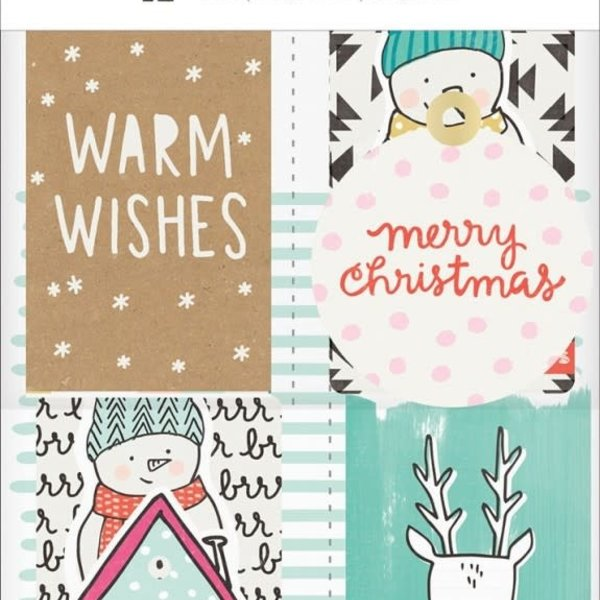 Snow & Cocoa Cardstock Tags