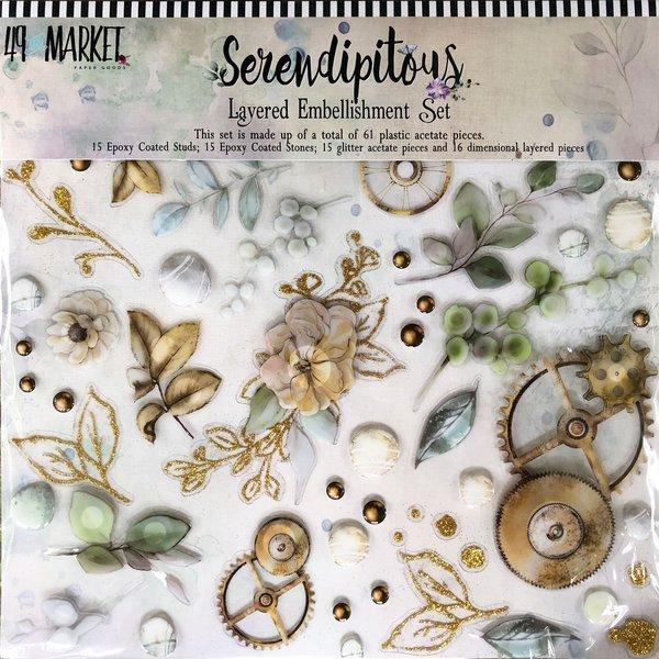 49 and Market Layered Embellishments 12X12 (serendipitous)