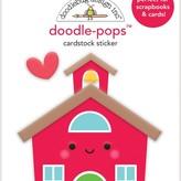 Doodlebug Doodle-Pops 3D Stickers (school house)