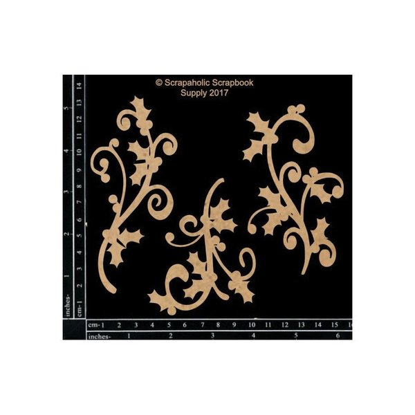 Scrapaholics Laser Cut Chipboard (holly flourishes)