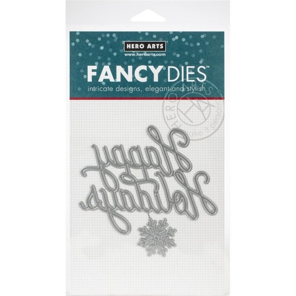 Hero Arts Fancy Dies (holiday message)