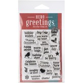 Hero Arts Greetings Clear Stamps (christmas messages)