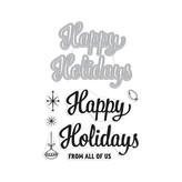 Hero Arts Stamp & Cut (happy  holidays script)