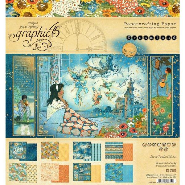 Graphic 45 Paper Pad 8X8 (dreamland)