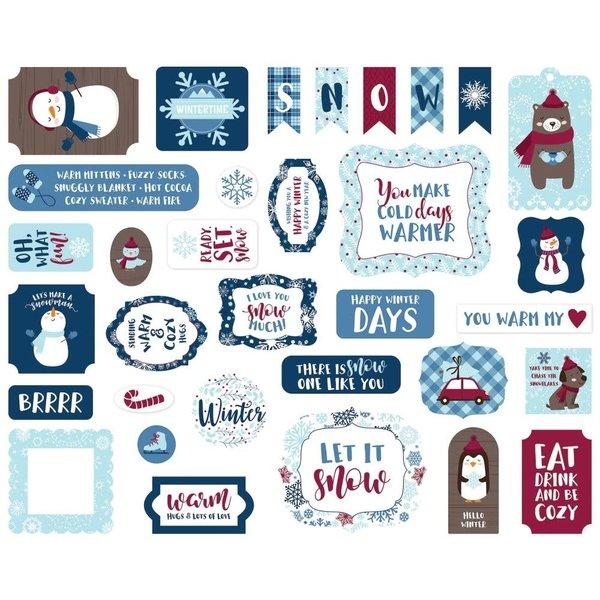 Echo Park Paper Cardstock Ephemera Icons (my favorite winter)
