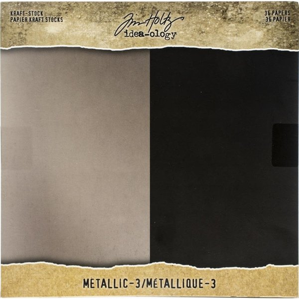 Advantus (Tim Holtz) Paper Stash Kraft Metallic Paper Pad 8X8 (metallic 3)