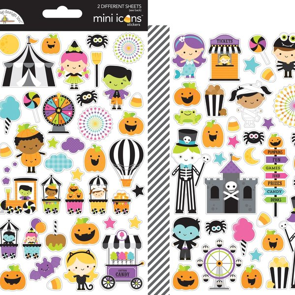 Doodlebug Mini Cardstock Stickers (candy carnival)