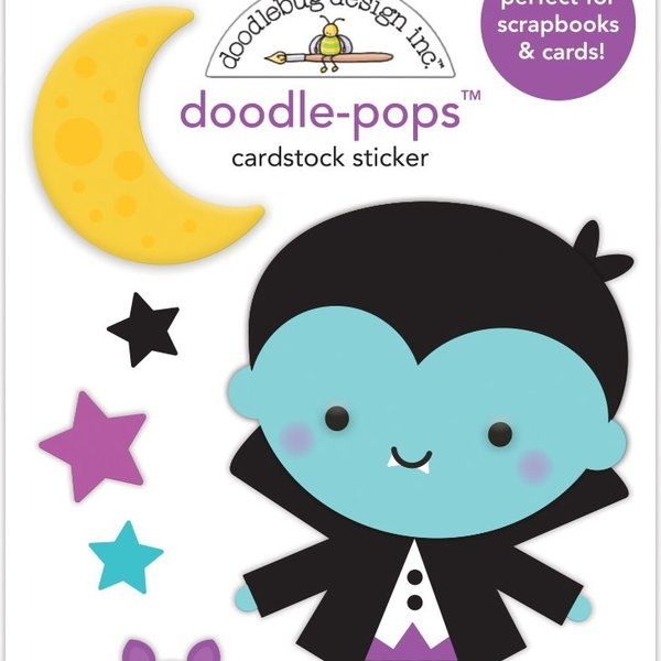 Doodlebug Doodle-Pops 3D Stickers (edward)