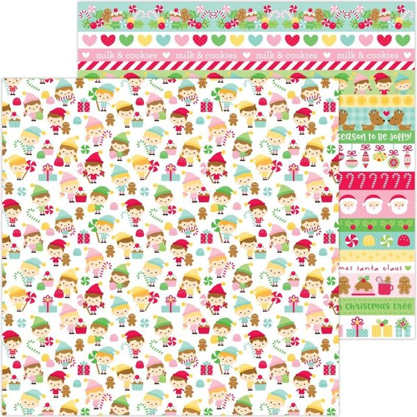 Doodlebug Double-Sided Cardstock 12X12 (christmas magic - little helpers)