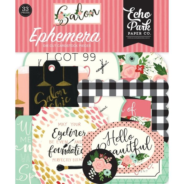 Echo Park Paper Cardstock Ephemera Icons (salon)