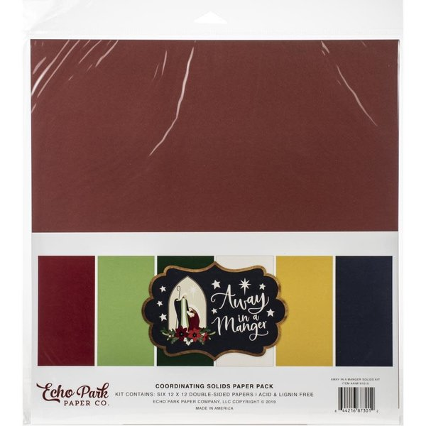 Echo Park Paper Solid Cardstock 12X12 (away in a manger)
