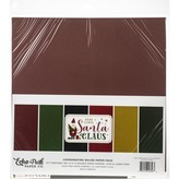 Echo Park Paper Solid Cardstock 12X12 (here comes santa claus)