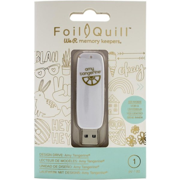 We R Memory Keepers Foil Quill USB Artwork Drive (amy tangerine)