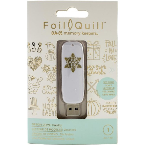 We R Memory Keepers Foil Quill USB Artwork Drive (holiday)