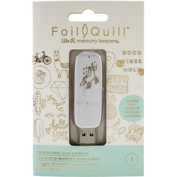 We R Memory Keepers Foil Quill USB Artwork Drive (icons & words)
