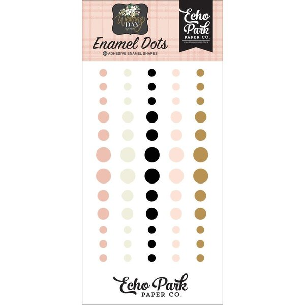 Echo Park Paper Adhesive Enamel Dots (wedding day)