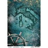 Ciao Bella Rice Paper Sheet A4 (mediterraneo)