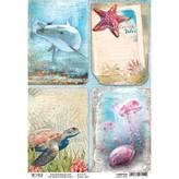 Ciao Bella Rice Paper Sheet A4 (ocean vibes)
