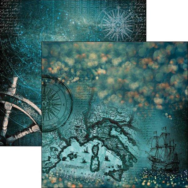 Ciao Bella Patterned Paper  12x11.6 - Le Repubbliche Marinare (mediterraneo)