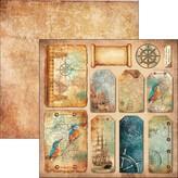 Ciao Bella Patterned Paper  12x11.6 - Le Repubbliche Marinare (nautica)