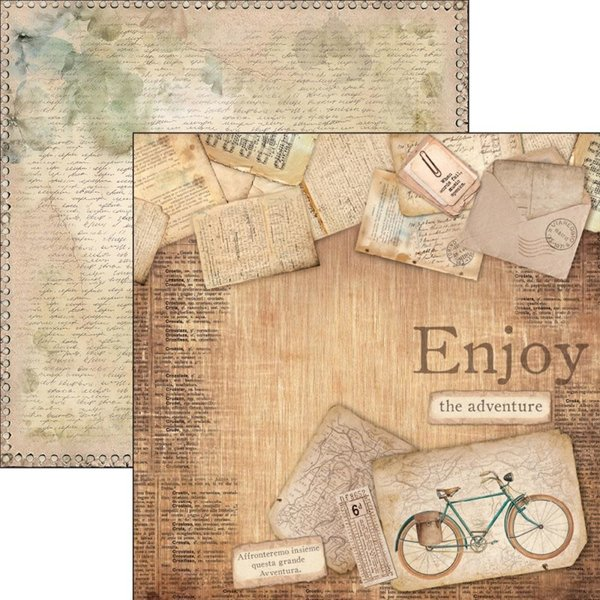 Ciao Bella Patterned Paper  12x11.6 - Ciao Bella (enjoy the adventure)