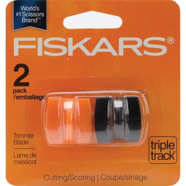 Fiskars Triple Track High-Profile Replacement Blades (straight & scoring style 1) (2/pkg)