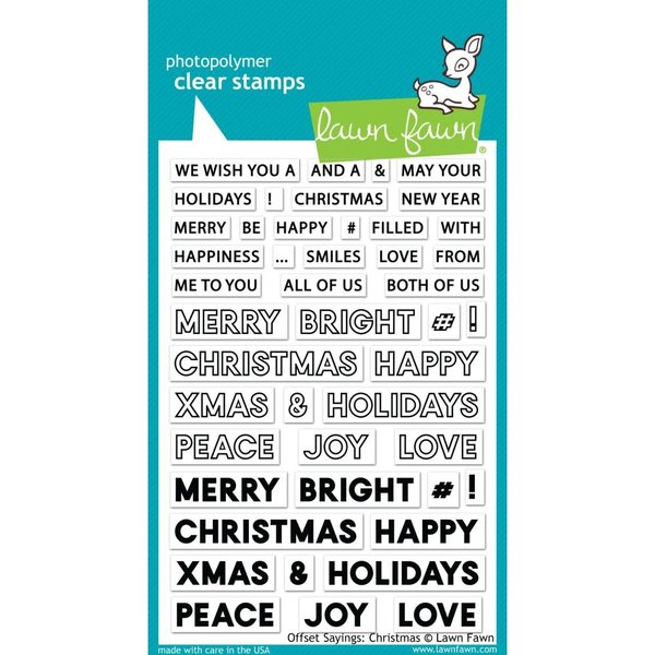 Lawn Fawn Clear Stamps (offset sayings: christmas)