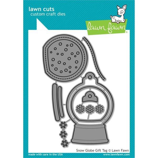 Lawn Fawn Dies (snow globe gift tag)