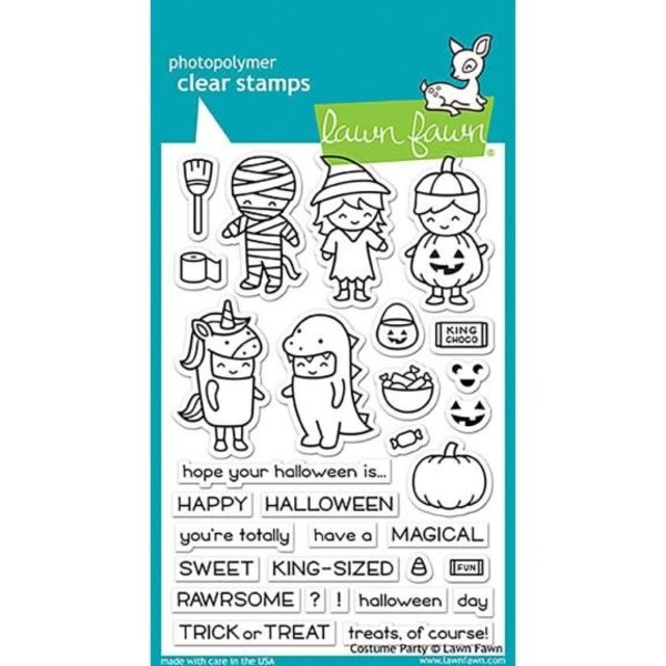 Lawn Fawn Clear Stamps (costume party)
