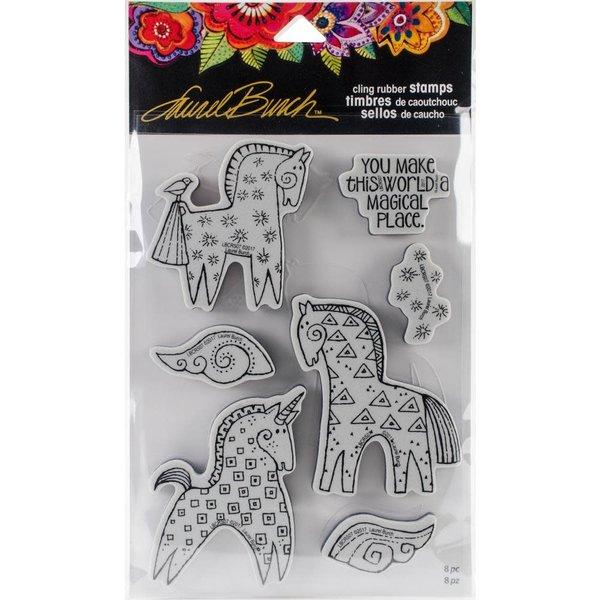 Stampendous Laurel Burch Cling Stamp (magical horses)