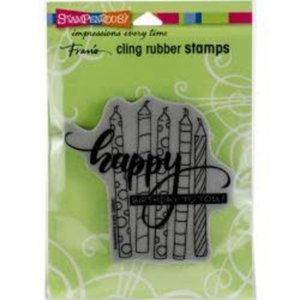 Stampendous Cling Stamp (candle wish)