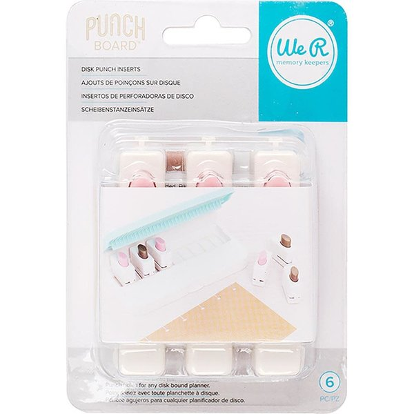 We R Memory Keepers Disc Punch Inserts (6/pkg)