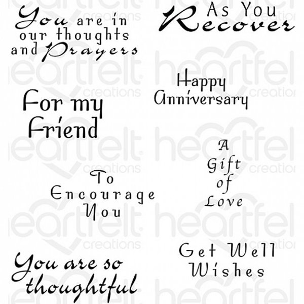 Heartfelt Creations Cling Rubber Stamp (encourage you)