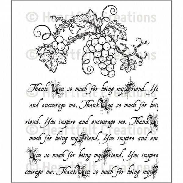 Heartfelt Creations Cling Rubber Stamp Set (italiana script)