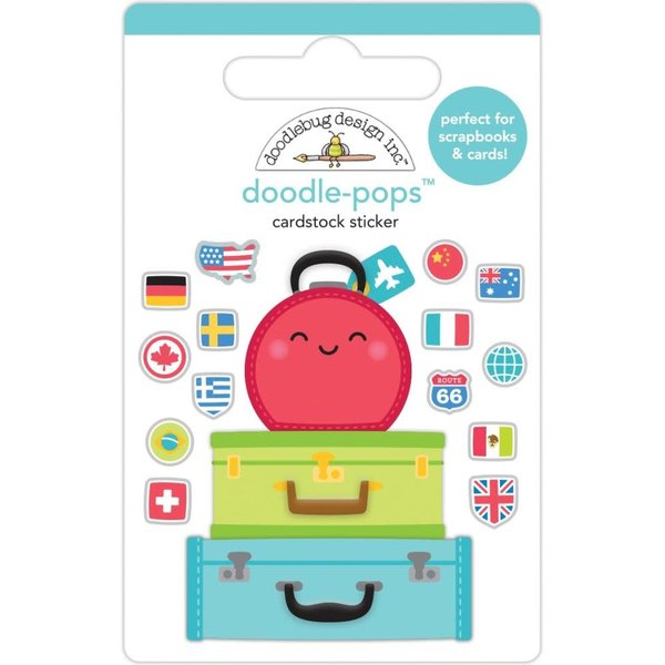 Doodlebug Doodle-Pops 3D Stickers  (pack your bags)