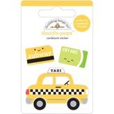 Doodlebug Doodle-Pops 3D Stickers (taxi!)