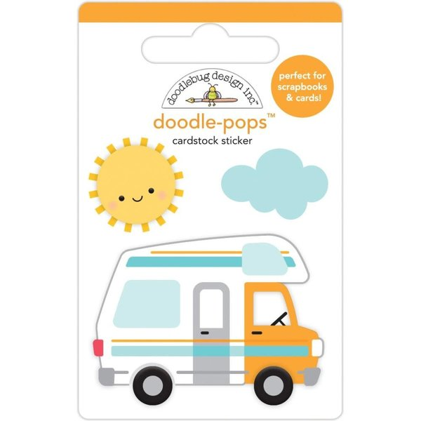 Doodlebug Doodle-Pops 3D Stickers  (road trip)
