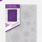 Crafter's Companion 3D Embossing Folder (shimmering snowflake)