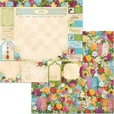 BoBunny Double-Sided Cardstock 12X12 (time & place - june)