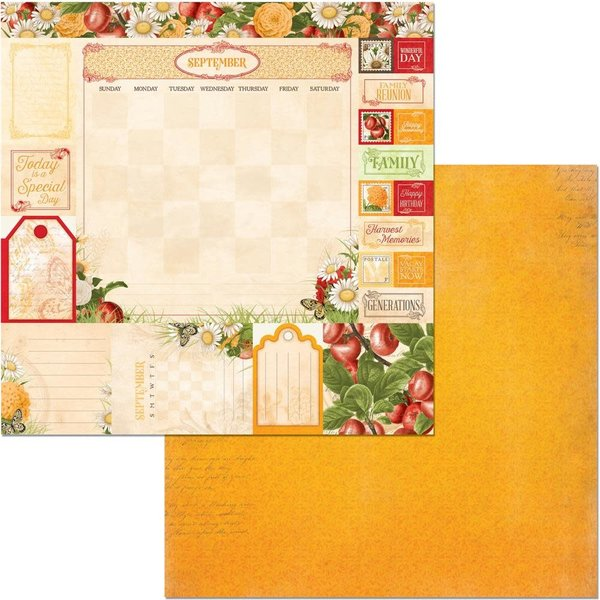 BoBunny Double-Sided Cardstock 12X12 (time & place - september)