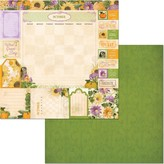 BoBunny Double-Sided Cardstock 12X12 (time & place - october)